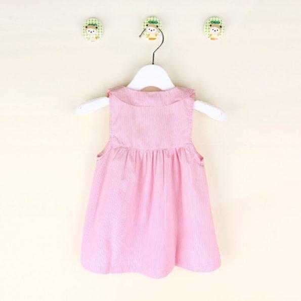 vestido ninas 7 a 12 meses rosa