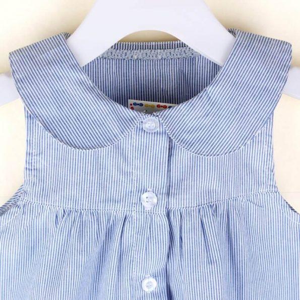 vestido bebe verano sin mangas azul