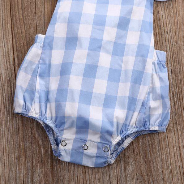pelele bebe azul verano