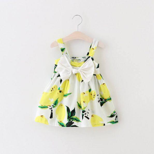 vestido floral limones