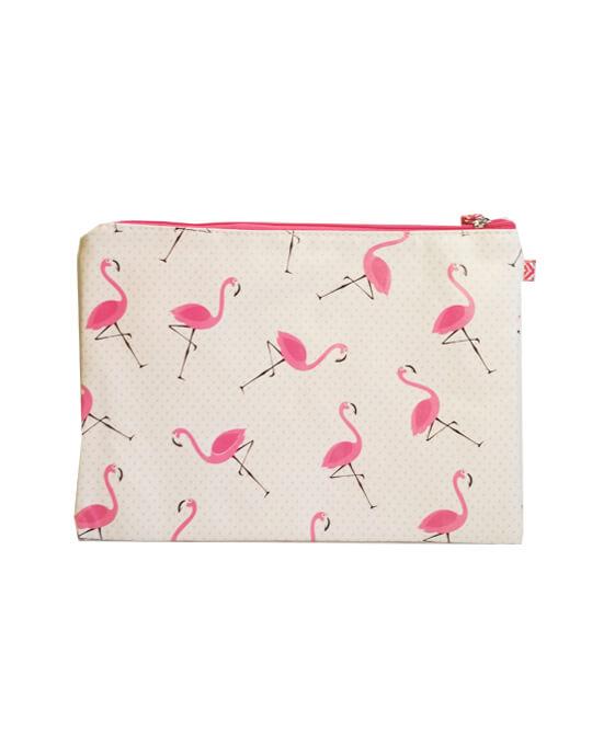 bolsita neceser flamingo puntitos
