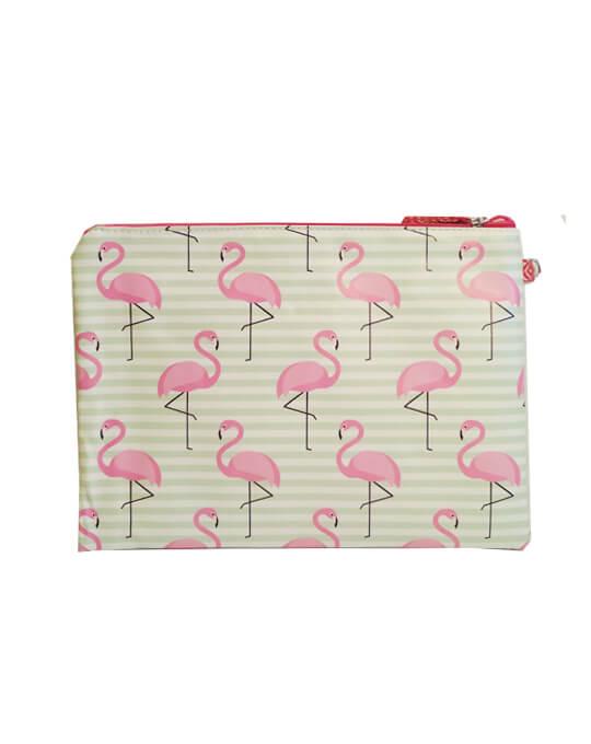 bolsita neceser flamingo rayas