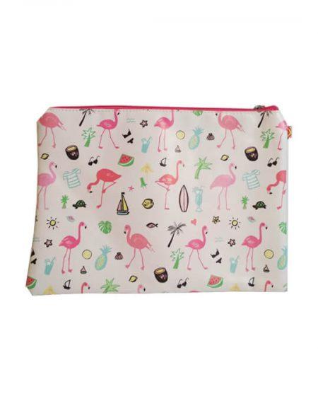 bolsita neceser flamingo summer