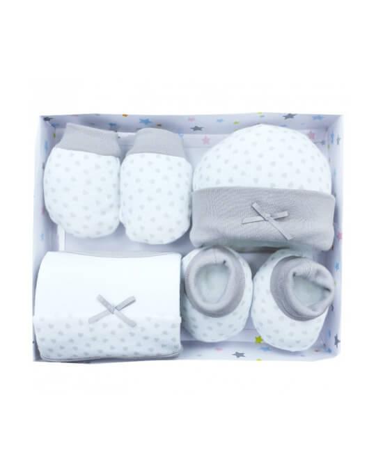 recién nacido pack 4 piezas gris