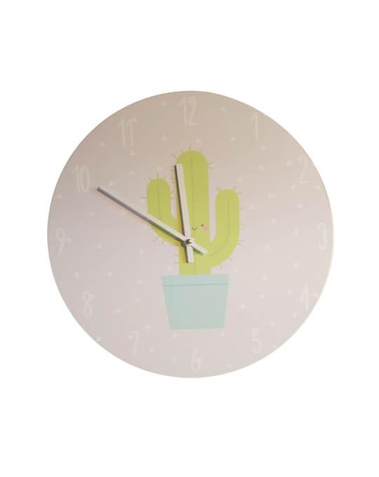 Reloj de pared cactus