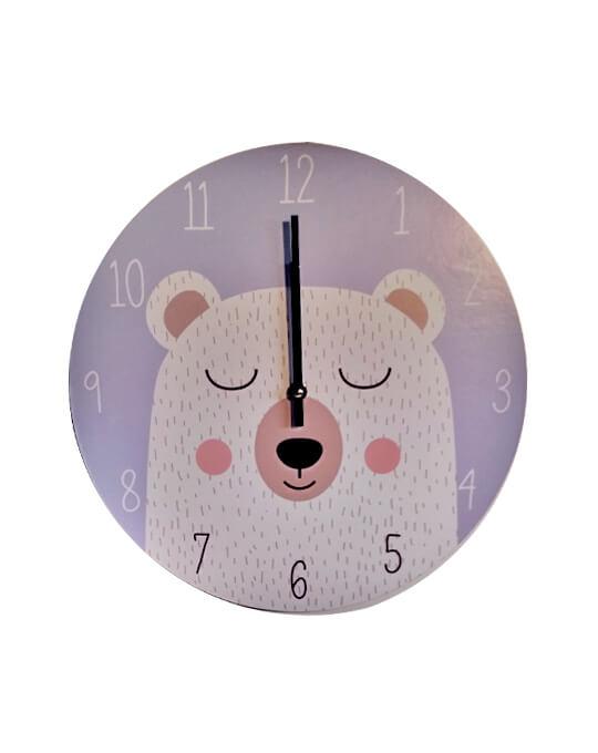 ae7c4f43948a Reloj de pared infantil oso