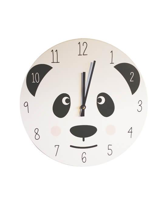 Reloj de pared infantil panda