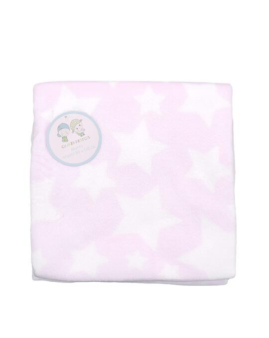 manta coralina rosa de estrellas