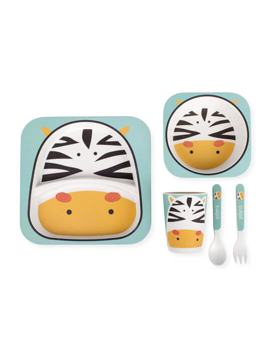 vajilla-infantil-fibra-de-bambu-zebra
