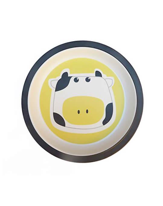 vajilla-infantil-plato-vaca
