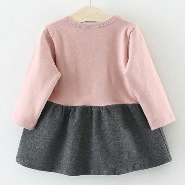 detalle vestido nina gatito rosa 2