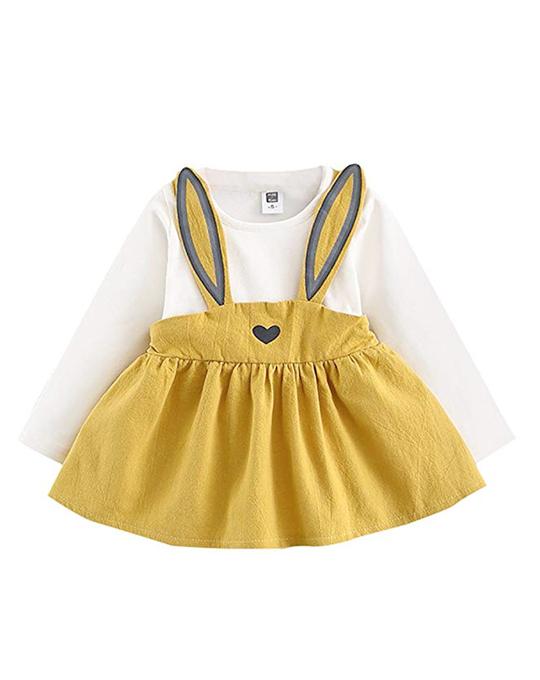 c0944ab2d Vestido conejito amarillo